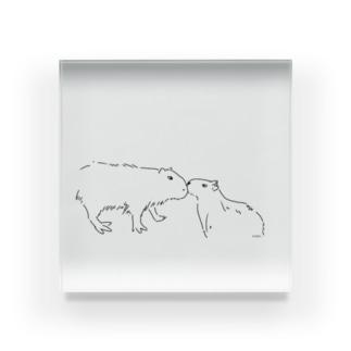 カピバラ親子 Acrylic Block