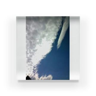 クジラ雲( ・_______・ ) Acrylic Block