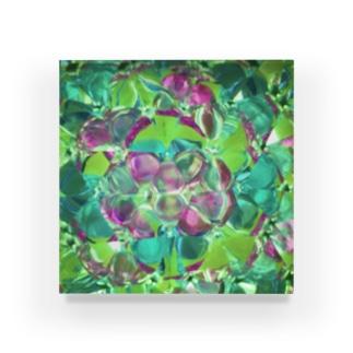万華鏡 グリーン Acrylic Block