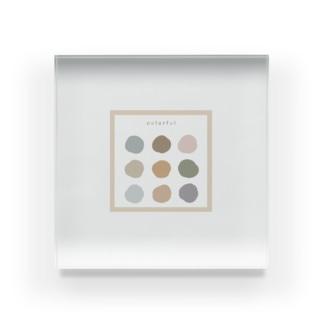 color palette Acrylic Block