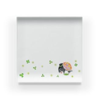 はなくいバク(クローバー) Acrylic Block