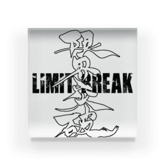 Limit Breakオリジナルグッズ 黒ロゴ Acrylic Block