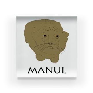 私は、マヌルネコがお好き。 Acrylic Block