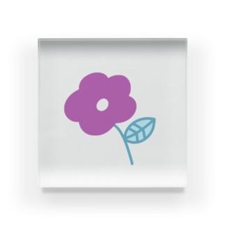 むらさき色のお花 Acrylic Block