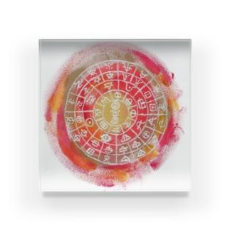 フトマニ(赤) Acrylic Block