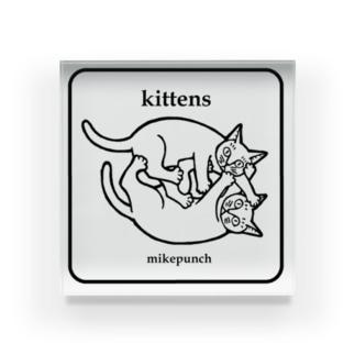 kittens あそぶ子猫さん Acrylic Block