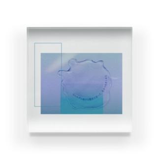 水と詩 Acrylic Block