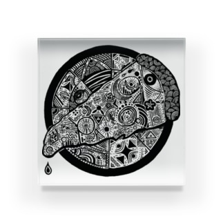 FxxKING PIZZA Acrylic Block