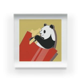フライドポテトが好きなパンダ Acrylic Block