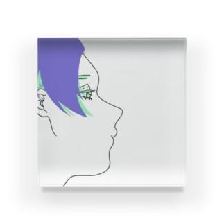 センター分け男子 Acrylic Block