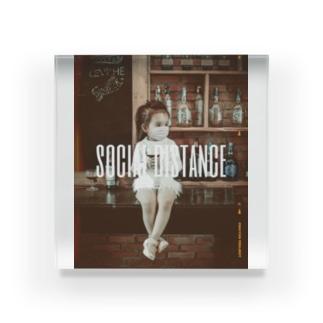 【social distance】 Acrylic Block