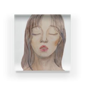 絵のティシャツ Acrylic Block