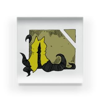冒涜的な猫ハス(色付き) Acrylic Block