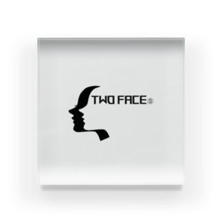 TWO FACE クールな男女の横顔 Acrylic Block