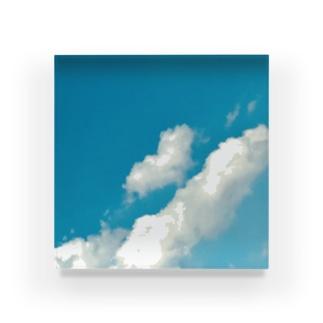 ハートの雲 Acrylic Block