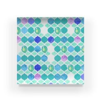 ミジンコ×モロッカン Acrylic Block