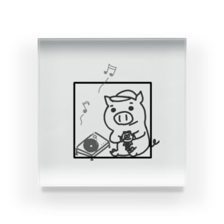 ブタ公とレコード Acrylic Block