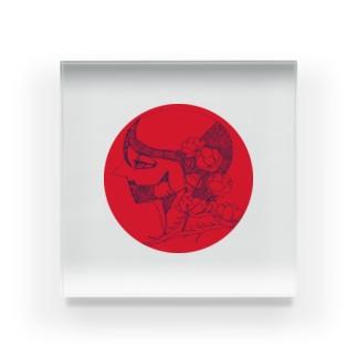 無名くん(赤) Acrylic Block