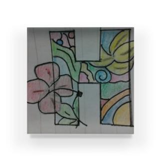 お洒落絵を書いてみました Acrylic Block