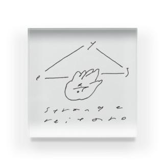 strange reitaro logo series (Hiroaki Ooka) Acrylic Block