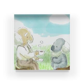 hirakoのおじいちゃんとコアラ Acrylic Block