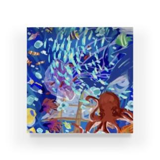 海のいきもの(パターン①) Acrylic Block