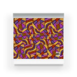 ガラガラ Acrylic Block