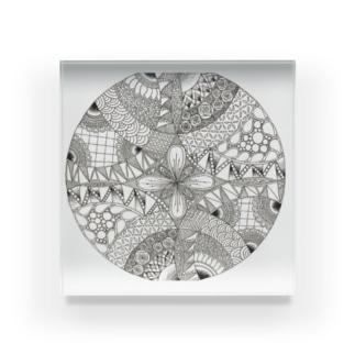 ゼンタングル Acrylic Block