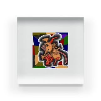 ルービックキューブの裏側 Acrylic Block