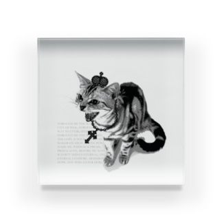 Lunatic Cat-ismのシャーという猫 Acrylic Block