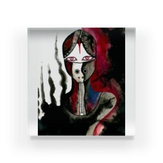 mask Acrylic Block