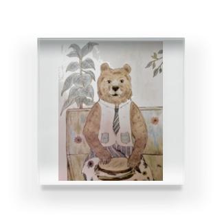 クマさんのランチタイム。グッズ。 Acrylic Block