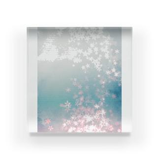 キラキラ星沈む Acrylic Block