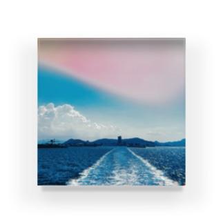 Takamatsu from the ship. Acrylic Block