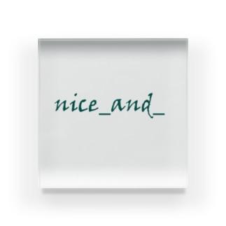 nice_and_natural Acrylic Block