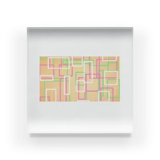 オレンジ四角隊 Acrylic Block