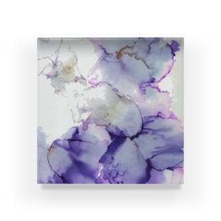 紫の花 Acrylic Block