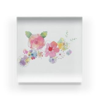 癒しの花 Acrylic Block