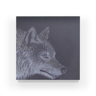 真夜中の狼 Acrylic Block
