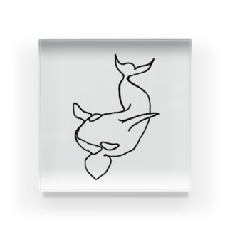 海のギャングのシンプルなシャチさん Acrylic Block