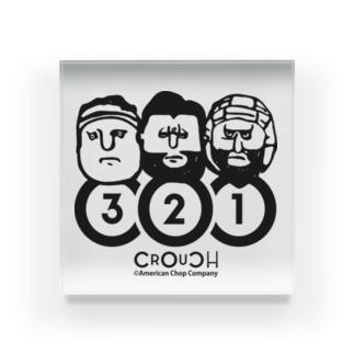 【ラグビー / Rugby】 CROUCHロゴ Acrylic Block