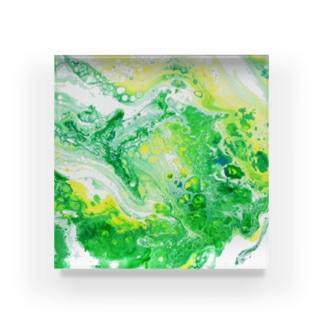 エネルギーアート〖森林力〗 Acrylic Block