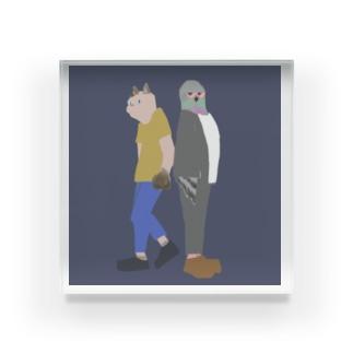 猫背くんと鳩胸くん(おもて面のみ) Acrylic Block