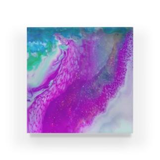 エネルギーアート〖信己〗 Acrylic Block