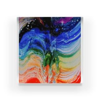 エネルギーアート〖チャクラ〗 Acrylic Block