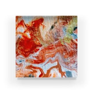 エネルギーアート〖大地〗 Acrylic Block