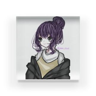 お団子少女 Acrylic Block