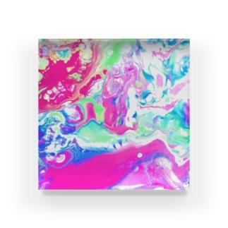 エネルギーアート〖挑戦〗 Acrylic Block