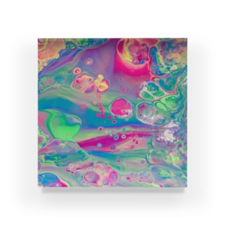 エネルギーアート〖七変化〗 Acrylic Block