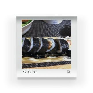 インスタ巻き巻き寿司寿司 Acrylic Block